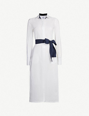 PDN LONDON Vanessa cotton shirt dress