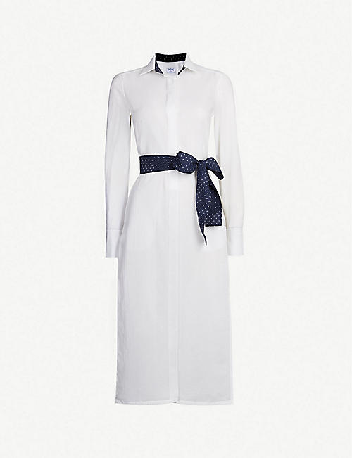 PDN LONDON: Vanessa cotton shirt dress