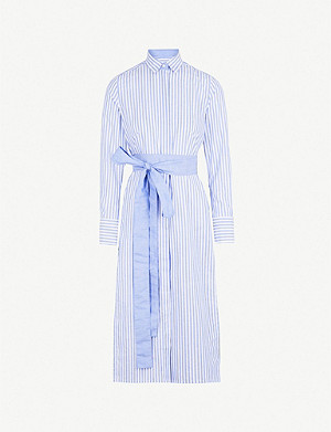 PDN LONDON Vanessa cotton and linen-blend shirt dress