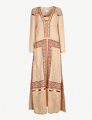 TIGERLILY Reseda embroidered chiffon dress