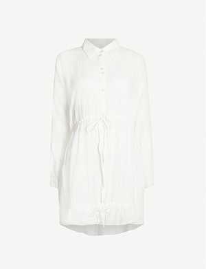 TIGERLILY Paradalis loose-fit cotton-blend shirt