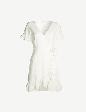 TIGERLILY Hana ruffled linen-blend dress