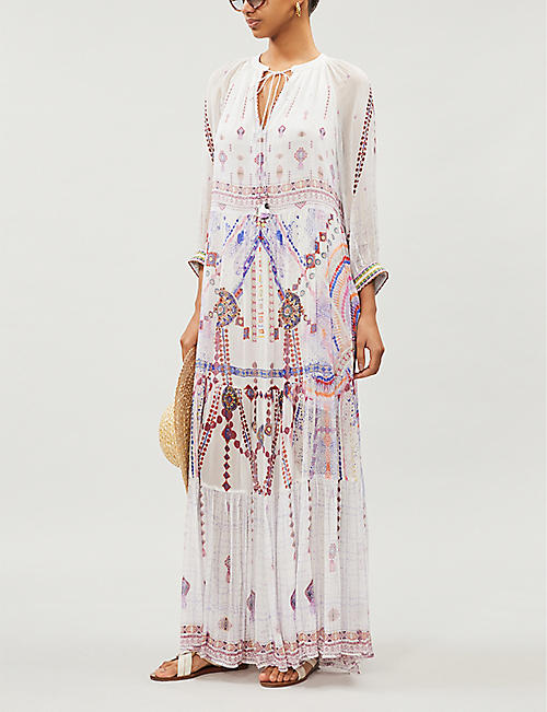 CAMILLA Tanami Road embellished silk maxi dress