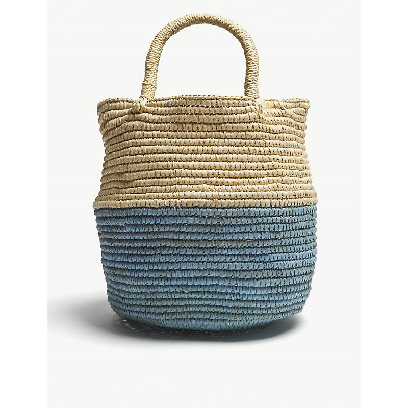ARTESANO Blue Woven Mini Bag in Aqua