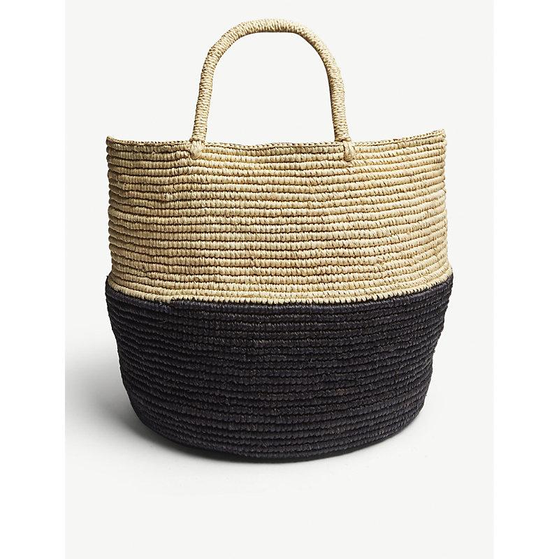 ARTESANO Black And Brown Woven Bag