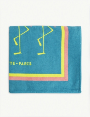 LA SERVIETTE PARIS Flamingo combed cotton towel