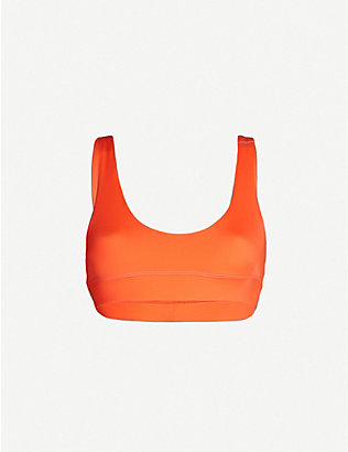 STAY WILD SWIM: Scoop-neck bikini top
