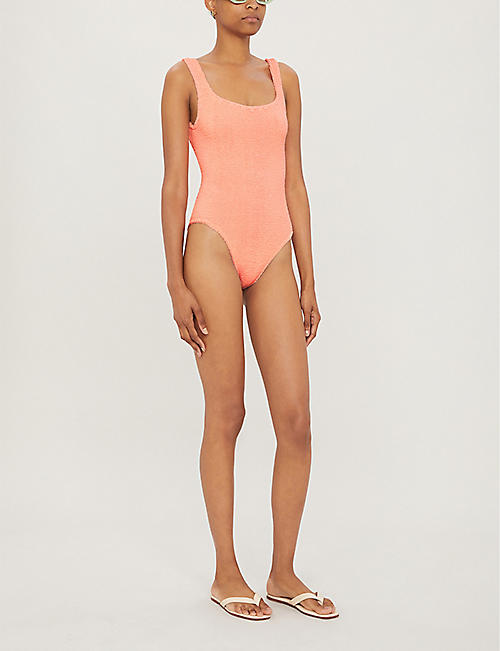 HUNZA G Classic striped swimsuit