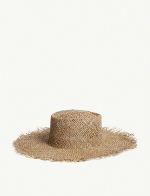 Sunnydip Fray Boater Hat by Lack Of Color