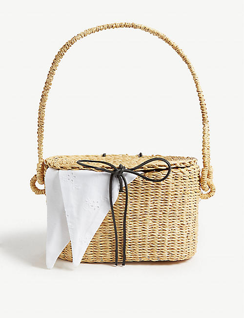MUUN Mini Jeanne straw basket bag