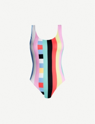 SEAFOLLY Active Retro striped swimsuit