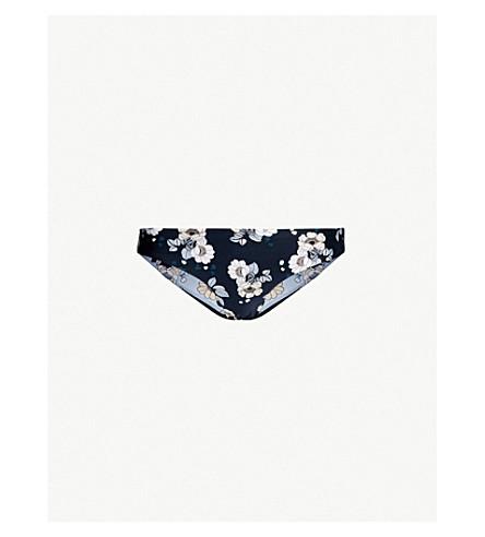 6a570ea3f0 SEAFOLLY Floral-print hipster-fit bikini bottoms (Indigo