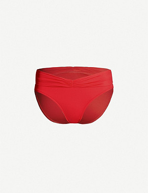 SEAFOLLY Ruched-detail bikini bottoms