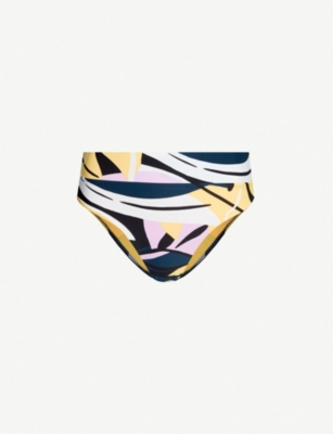 SEAFOLLY Abstract print high-rise bikini bottoms