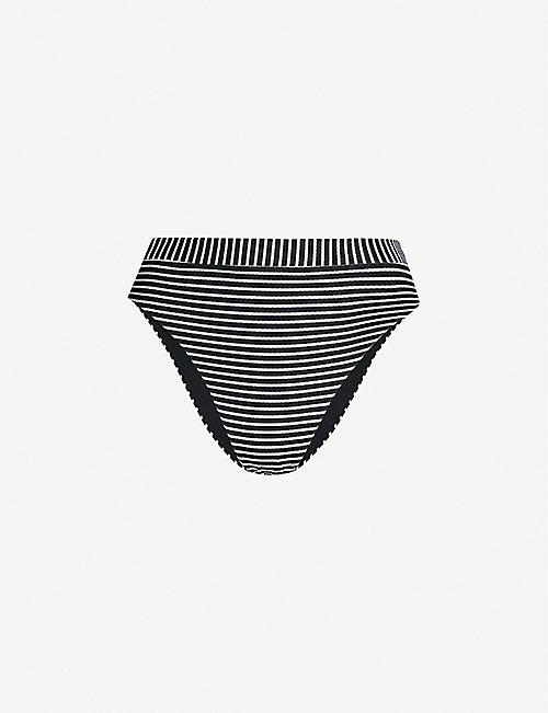6aeae24d48 SEAFOLLY Go Overboard striped high-rise bikini bottoms
