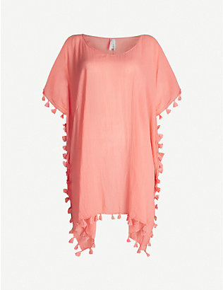 SEAFOLLY: Amnesia crinkled cotton kaftan