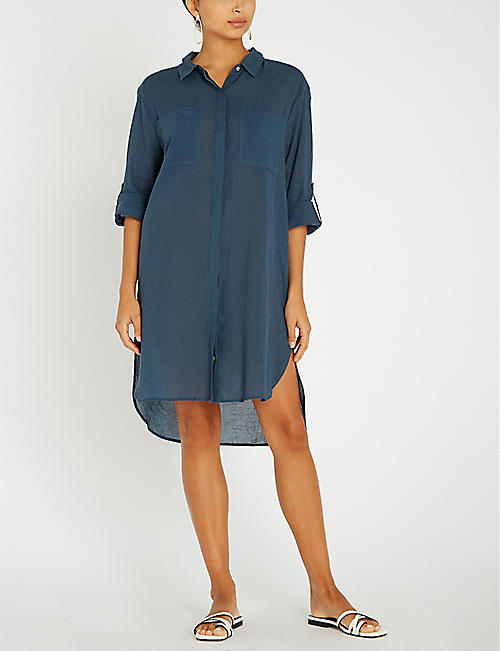 SEAFOLLY Side-slit cotton dress