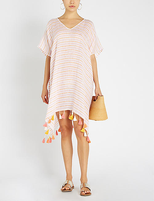 SEAFOLLY Striped linen kaftan