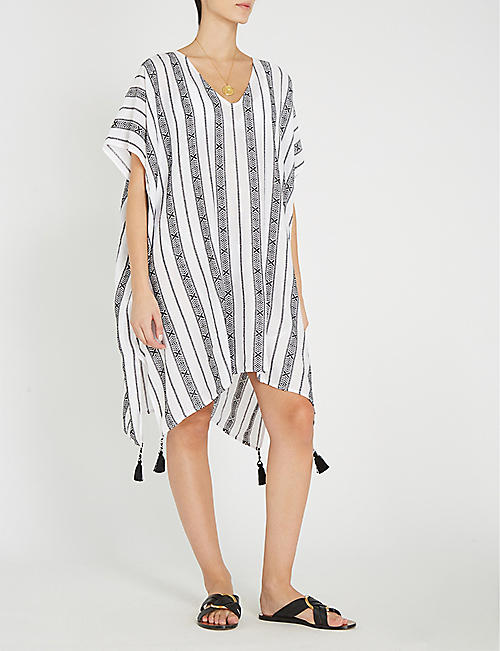 SEAFOLLY Striped woven kaftan