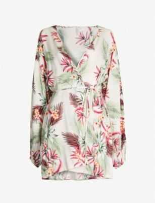 SEAFOLLY Ocean Alley palm-print kaftan