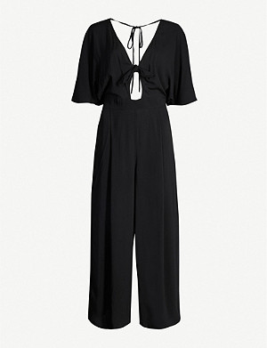 SEAFOLLY Self-tie poplin jumpsuit