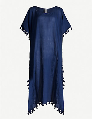 SEAFOLLY: Amnesia cotton-gauze kaftan