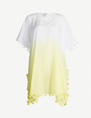 SEAFOLLY Dip-dye cotton-gauze kaftan