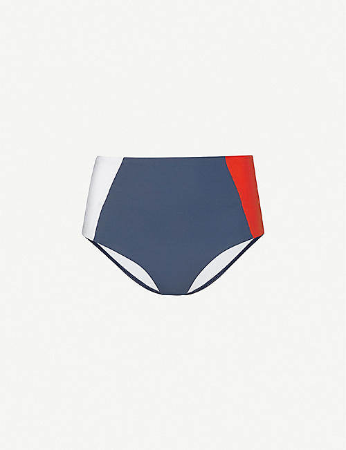 TOMMY HILFIGER Colour-block high-rise bikini bottoms