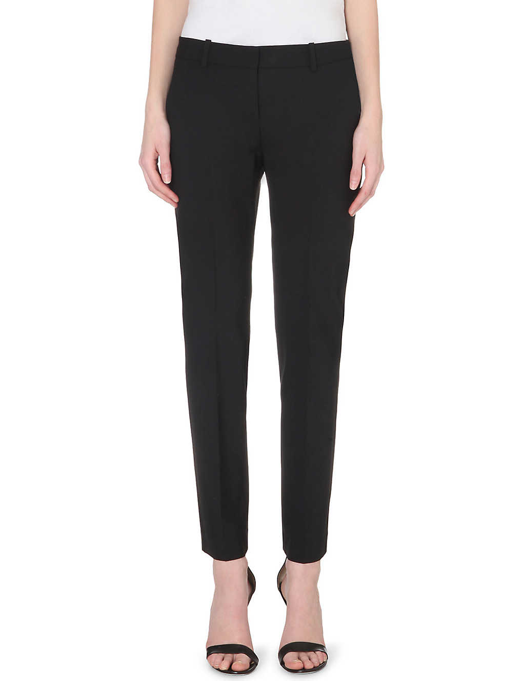 f44432e897 THEORY - Testra tapered wool-blend trousers | Selfridges.com
