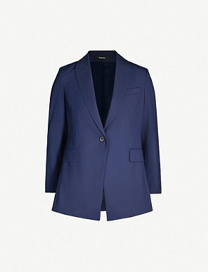 2a528fcadd4d THEORY - Etiennette stretch-wool blazer | Selfridges.com