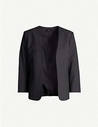 THEORY: Lindrayia cropped stretch-wool jacket