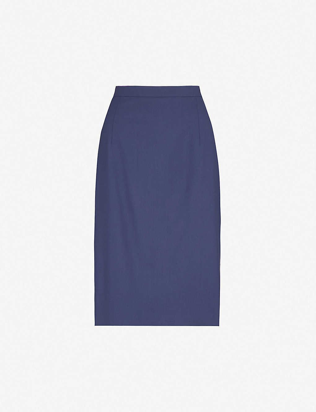 89bb39b9aee THEORY - Hemdall stretch-wool pencil skirt | Selfridges.com