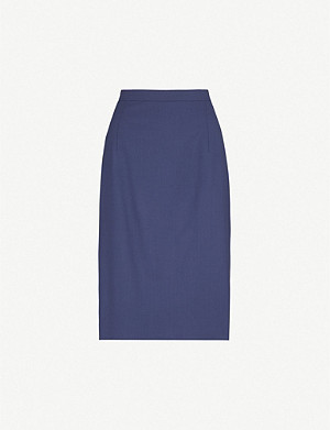 THEORY Hemdall stretch-wool pencil skirt