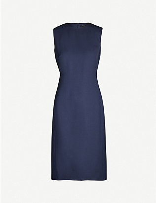 THEORY: Eano knee-length stretch-wool dress