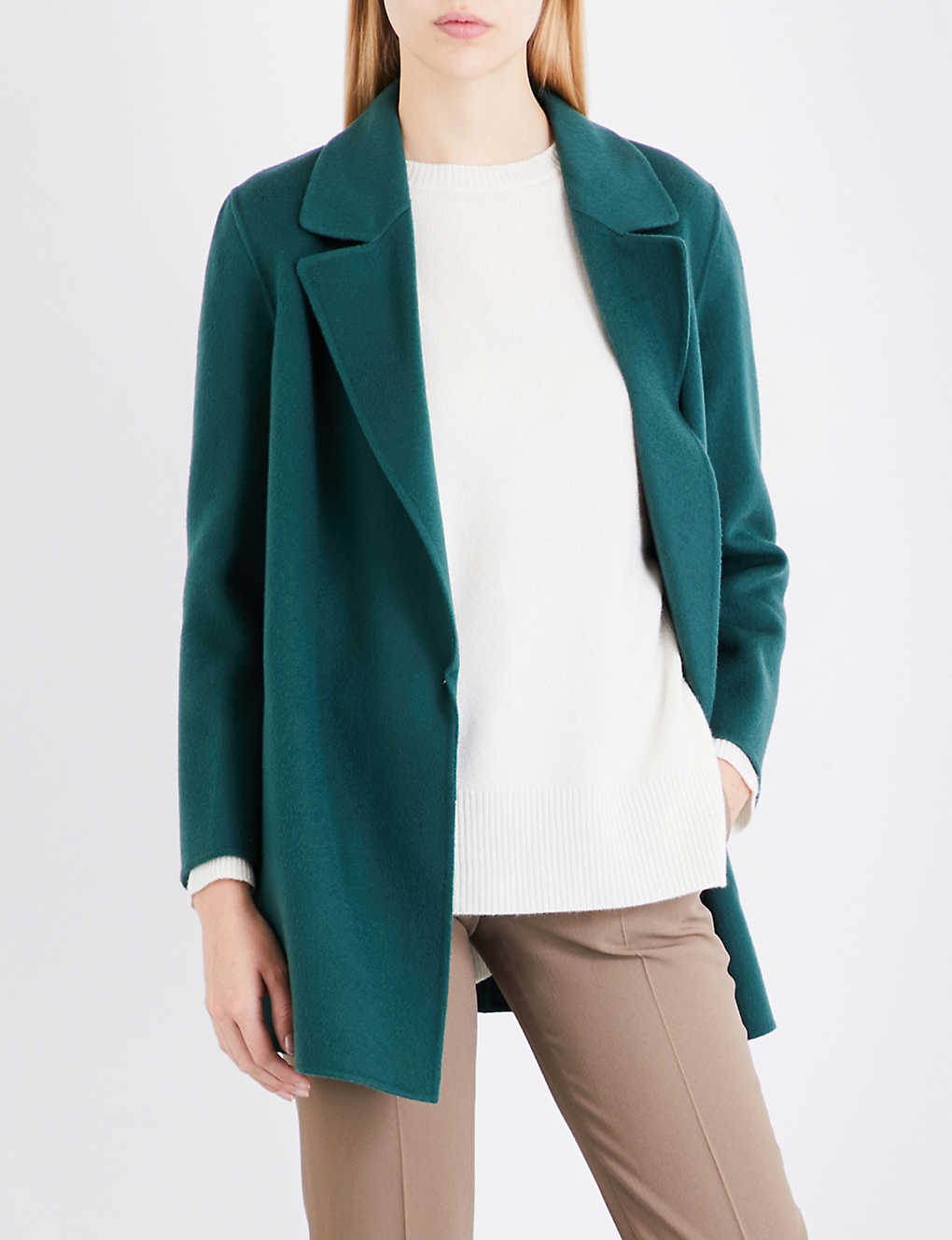 e3716553f3 THEORY - Clairene open-front wool and cashmere-blend jacket ...
