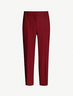 THEORY Treeca mid-rise stretch-wool tapered trousers