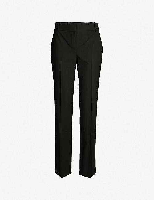 015abc1212270a THEORY Mid-rise straight stretch-wool trousers