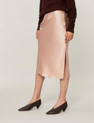 0007a9854450 Shoptagr | Slip Silk Skirt by Theory