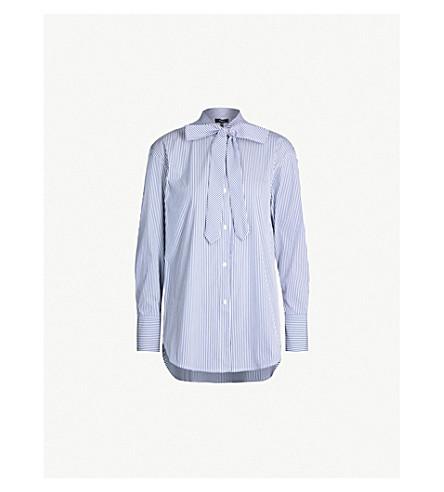 9bfba69cca0 THEORY - Weekender neck-tie striped cotton-blend shirt | Selfridges.com