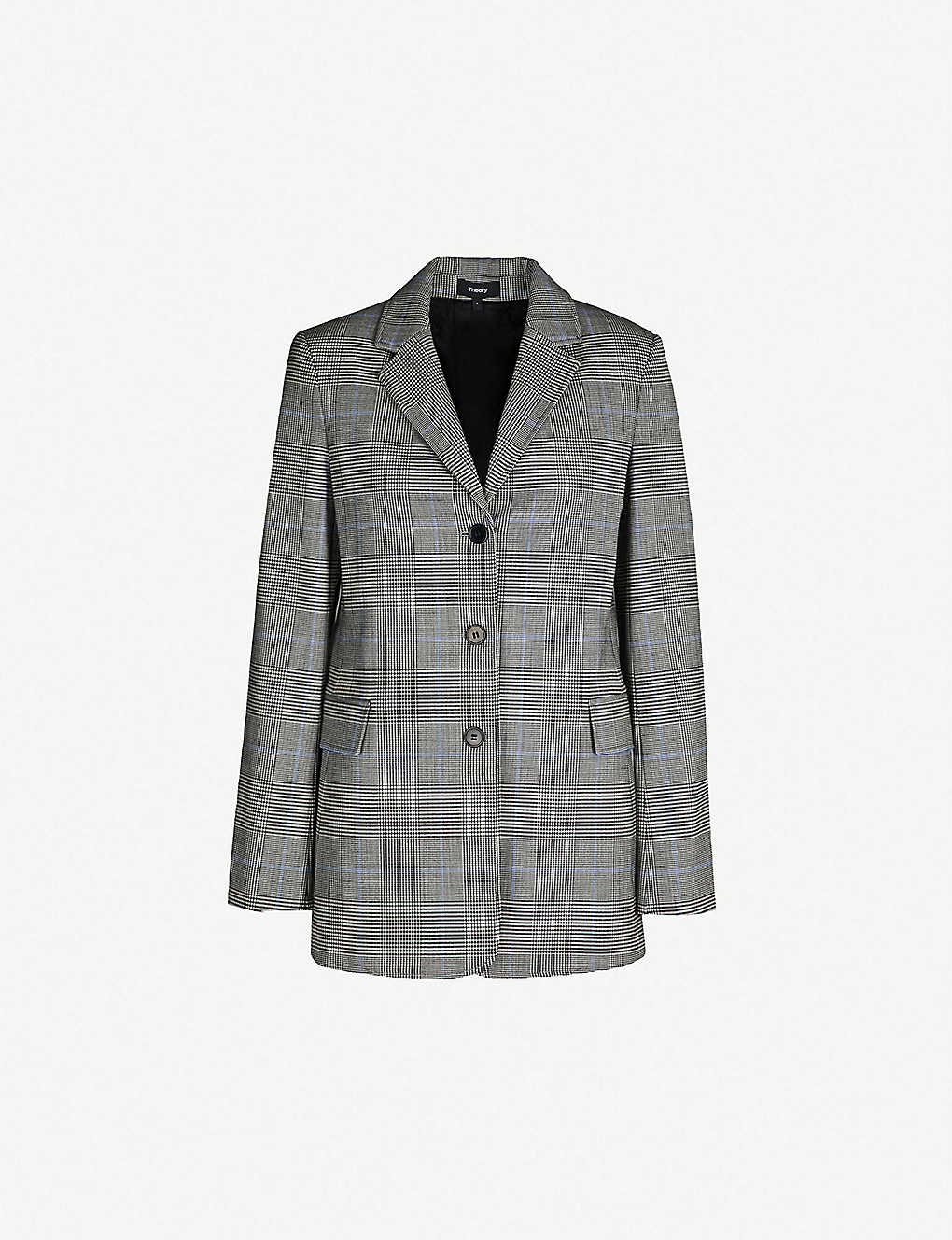 b65304a88b THEORY - Cardinal checked stretch-wool jacket | Selfridges.com