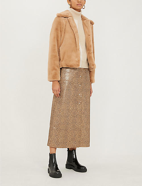 THEORY Luxe faux-fur jacket