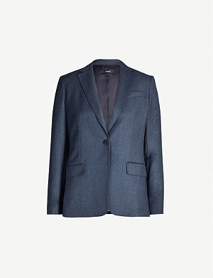 THEORY Single-breasted wool jacket