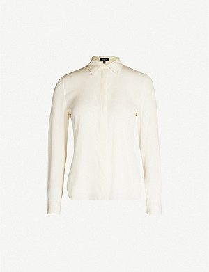 THEORY Slim-fit cotton shirt