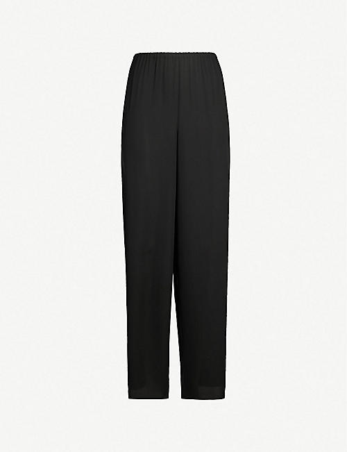 THEORY Tapered high-rise crepe trousers