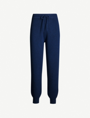 THEORY High-rise wool and cashmere-blend jogging bottoms