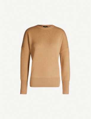 THEORY Round-neck wool and cashmere-blend jumper