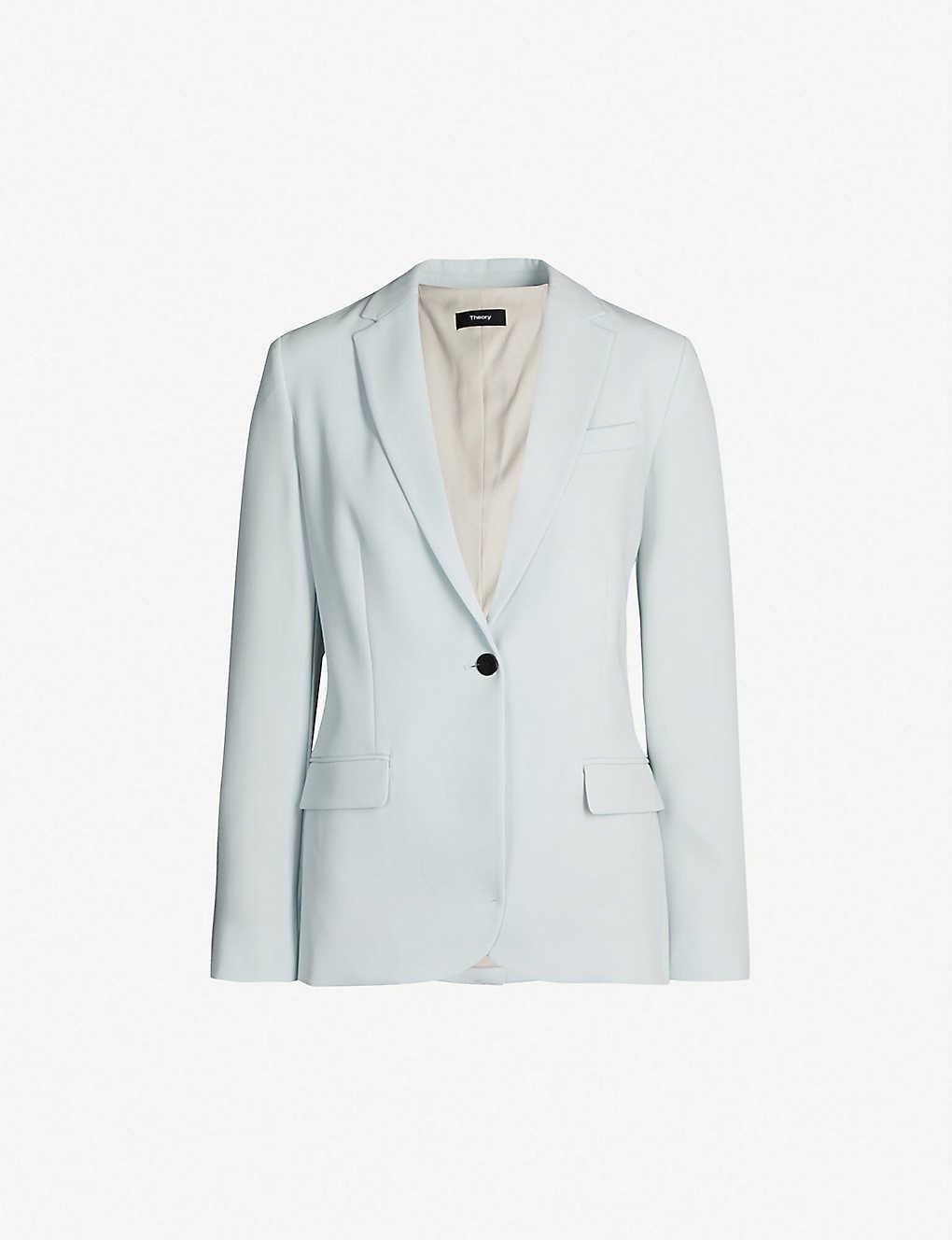 1590d58030 THEORY - Single-breasted crepe blazer | Selfridges.com