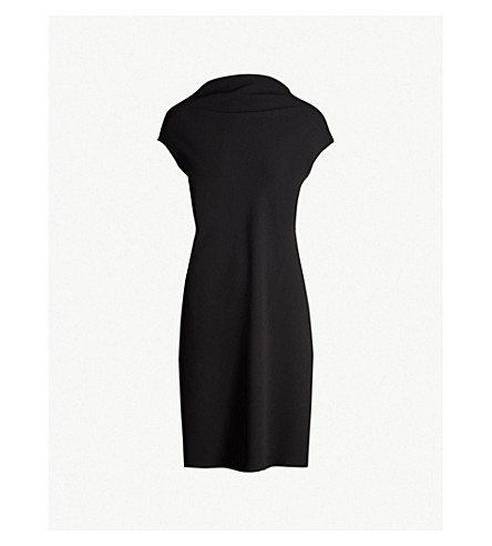 97cadfb9d90 THEORY Draped crepe sheath dress (Black