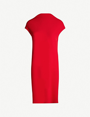 65c78ed1803 THEORY - Draped crepe sheath dress