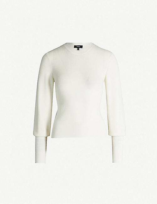 33d13c2f269 THEORY Blouson-sleeve cashmere jumper